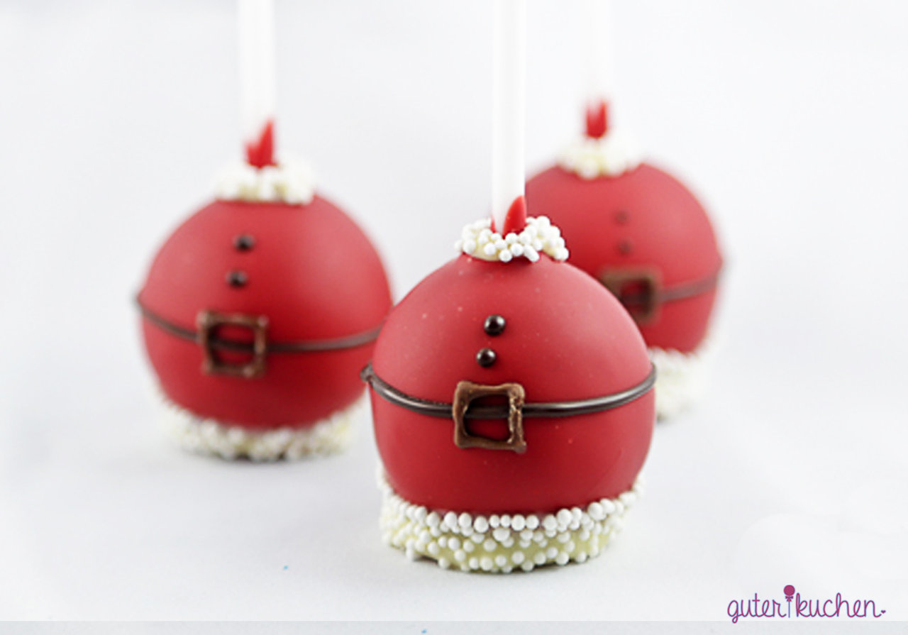 weihnachtsmann cake pops geschenkidee zu weihnachten. Black Bedroom Furniture Sets. Home Design Ideas