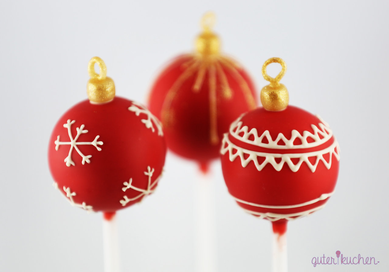 cake pops als weihnachtskugeln zum weihnachtsfest. Black Bedroom Furniture Sets. Home Design Ideas